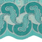 Il nero e tessuto di cotone svizzero del ricamo dentellare della maglia di Fushia