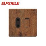 Carga telefônica de PC de madeira com soquete de 2 pinos