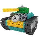 1488718-Tank Kit de Bloque de control remoto RC de la educación Conjunto de bloques de juguete creativo 145PCS - Color al azar