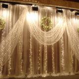 Boa luz da cortina da cachoeira do diodo emissor de luz de Quatily para a decoração do Natal com diversas modalidades de piscamento