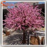 Flor de cereja artificial cor-de-rosa da árvore para a decoração do jardim