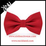 Rouge tissé par soie en gros faite sur commande de relation étroite de proue d'hommes pour les hommes