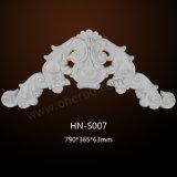 La PU grande de los Appliques/de los sobrepuestos del arte de la pared del poliuretano adorna Hn-S007