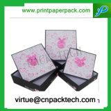 Роскошь Bespoke твердый багаж упаковывая коробки квадратной крышки бумажные