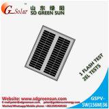 mono painel 5W solar para a luz solar, Lanterm solar