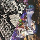 Snake Python Grain Synthetic PU Leather para sacos de sapatos Hx-S1718