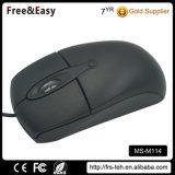Souris bon marché de câble de modèle personnalisée par noir d'ABS