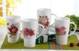 taza de lujo de cerámica del té 11oz con las etiquetas en ambas caras
