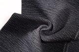 Tecido de malha de malha de malha de algodão preto e espuma de algodão