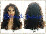 Pleine perruque bouclée crépue de lacet/perruque avant de lacet pour des femmes de couleur