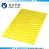 Decoratieve Blad van het Polycarbonaat van Lexan het Gele UV Beschermde