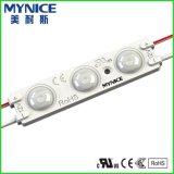 Iluminación LED de Shenzhen Comercial Módulo de señalización con lente