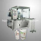 llenador de relleno del jugo del sabor 250ml y máquina que capsula para la bolsa derecha