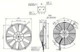 Maquinaria para servicio pesado Ventilador Axial de A/C Spal VA09-AP12/C-27S