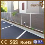 Dekorativer WPC zusammengesetzter Zaun mit Aluminiumpfosten