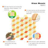 Cuarto de baño anaranjado del material de construcción el pequeño embaldosa el mosaico de cristal con la decoración