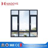 Guichet en aluminium de tissu pour rideaux en verre Tempered de qualité de fournisseur de Foshan excellent