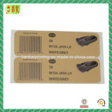 Etiqueta / etiqueta de papel impresso Custome para sapato