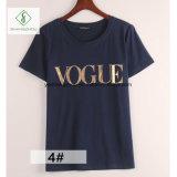 Le circuit européen de mode a gainé l'usine de femmes de T-shirt de lettre directe