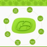 100% plaques de Placemat de bébé de silicones de catégorie comestible