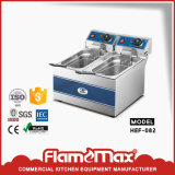 Équipement de cuisine en acier inoxydable Bureau friteuse électrique Restaurant Friteuses