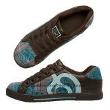 화포 갑피를 가진 Skateboard 형식 숙녀의 가죽 신발