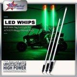 Los látigos de luz LED multicolor con control Bluetooth - 5 pies de canchas de látigo con tubo LED RGB para el Buggy, ATV, Polaris Rzr, Camiones
