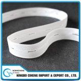 Kleid-Zubehör-weißes breites großes Band-lange Knopfloch-Gummiband-Brücken
