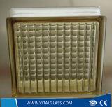 Décoration intérieure utilisés en brique de verre coloré bloc /