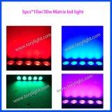 DMX Matriz de LED 5PCS * 30W blanco cálido