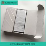 Carte de PVC de puce du blanc 4442 avec la piste magnétique de Hico