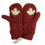 Toque/écharpe/mitaine de l'adulte 3-Piece Canada de couleur rouge réglée (CPHC-7012X)