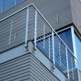 현대 디자인 스테인리스 단단한 로드 난간