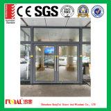 Excellente porte en aluminium durable avec la glace isolée Tempered