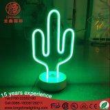 Luz de néon do Desktop da decoração da tabela do cacto do diodo emissor de luz