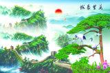 jiangnan湖の美しい景色ヤナギのプラム花はすの花のオリオールズの鳥そして完全