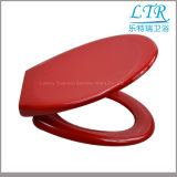Assento de toalete europeu da cor vermelha do Urea da forma