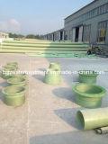 Instalación de tuberías material del drenaje GRP del agua de GRP FRP