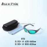 Vidros vermelhos para 635nm, da proteção de olho do laser dos óculos de proteção de segurança do laser do IR dos vidros de segurança do laser diodos 808nm