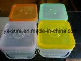 ハンドルが付いている5L食品等級の正方形のプラスチックバケツ