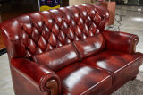新しく標準的なボタンの革ソファー、組合せのソファー(8295)