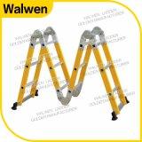 De gele Multifunctionele Ladder van de Glasvezel van de Kleur met de Scharnier van het Slot