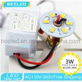 La noche de la lámpara de vector enciende el LED dentro de las luces blancas de la noche de la cortina 3W para la luz del vector del dormitorio