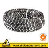 焼結させたダイヤモンドの切断ワイヤーは花こう岩および大理石については鋸歯を