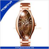 Una buena calidad diseño exclusivo de lujo moda Oval-Shaped Reloj para mujer