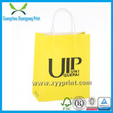 Marca Brown Kraft Paper Bag Print com Pega de papel