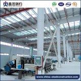 Edificio de dos pisos prefabricado de la estructura de acero para el almacén con el espacio grande