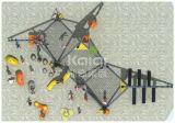 Campo de jogos das crianças de Kaiqi com jogo de escalada emocionante das atividades (KQ60120A)
