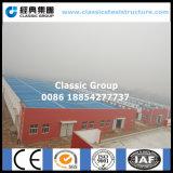 Edificio per uffici modulare prefabbricato d'acciaio chiaro