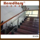 304 الفولاذ المقاوم للصدأ زجاج سور للشرفة / شرفة الزجاج حديدي / سطح الزجاج سور ( SJ- X1024 )